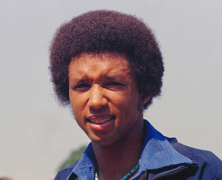 . Pictured here is a portrait of tennis player Arthur Ashe in 1975. (AP Photo)