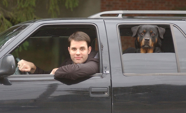 Eamon Stimson with his Rottweiler