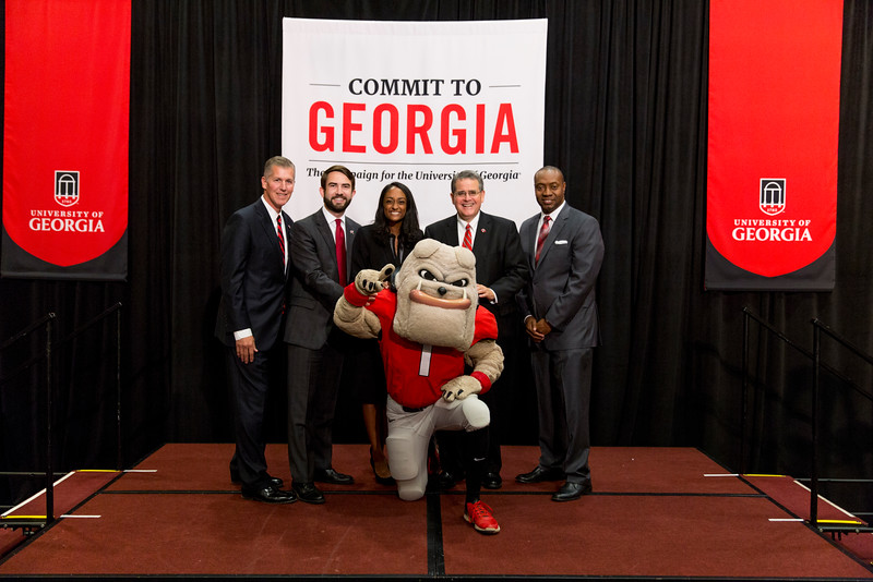 Description: Capital Campaign Campus KickoffDate of Photo: 11/10/2016Credit: Andrew Davis Tucker, University of GeorgiaPhotographic Services File: 34401-216The University of Georgia owns the rights to this image or has permission to redistribute this image. Permission to use this image is granted for internal UGA publications and promotions and for a one-time use for news purposes. Separate permission and payment of a fee is required to use any image for any other purpose, including but not limited to, commercial, advertising or illustrative purposes. Unauthorized use of any of these copyrighted photographs is unlawful and may subject the user to civil and criminal penalties. Possession of this image signifies agreement to all the terms described above.