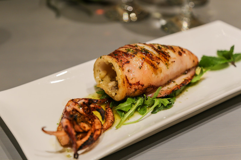stuffed squid on a plate