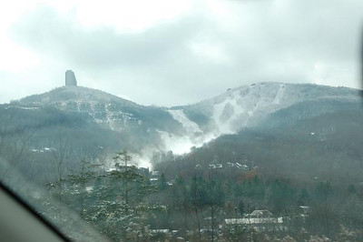 First Snow of the season in NC mountains