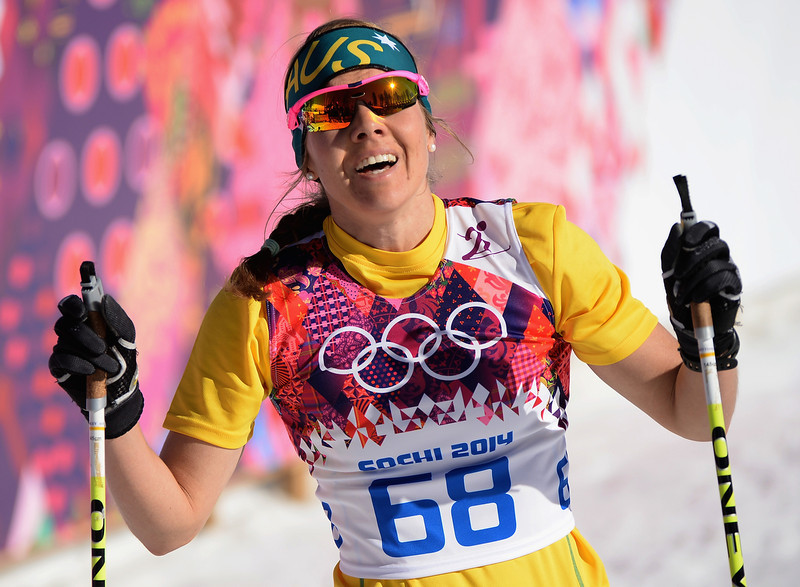 . Esther Bottomley of Australia competes in the Women\'s 10 km Classic during day six of the Sochi 2014 Winter Olympics at Laura Cross-country Ski & Biathlon Center on February 13, 2014 in Sochi, Russia.  (Photo by Harry How/Getty Images)