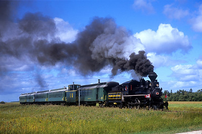 Steam trains in Canada