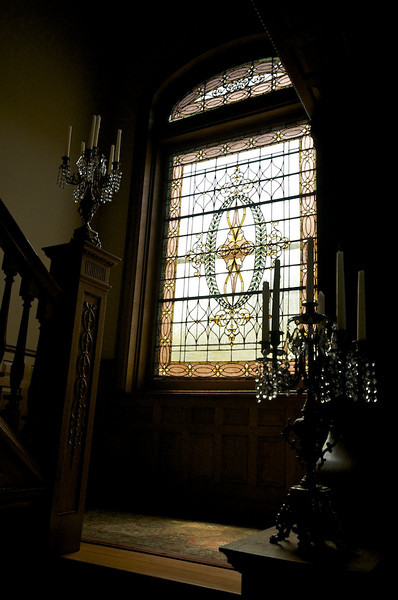 Wiedemann Hill Mansion - another view of fabulous window on landing