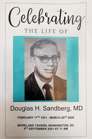 2021 09 Douglas Sandberg  Memorial Celebration