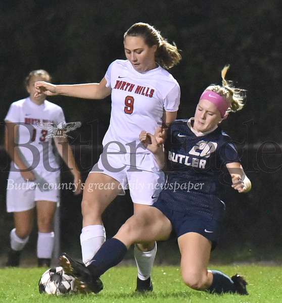 41159 Butler vs North Hills WPIAL Class 4A Section 1 girls soccer game at Butler Intermediate soccer field