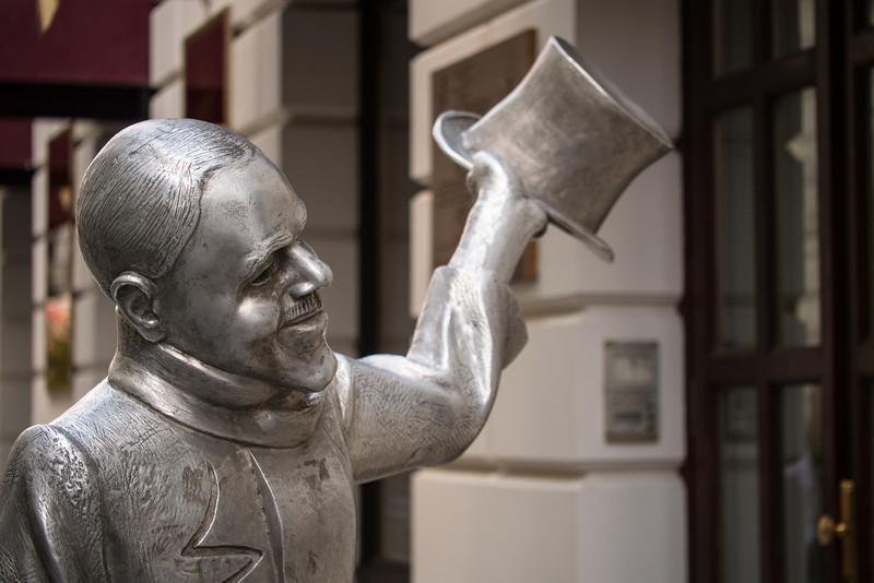 Quirky statue, Bratislava, Slovakia