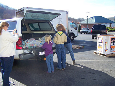 """2011 Scouting for Food """"food-drive"""""""