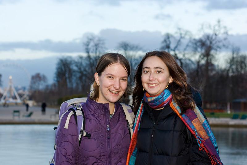 Gennie and Rachel in Paris