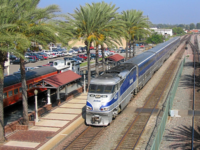 Amtrak's Pacific Surfliner at Fullerton, California