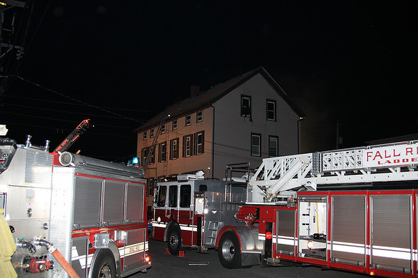 Fall River MA 4/27/2009  House fire on Orswell St.