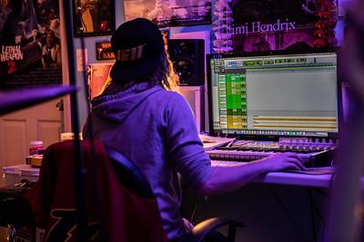 Ben and Sam in studio.
