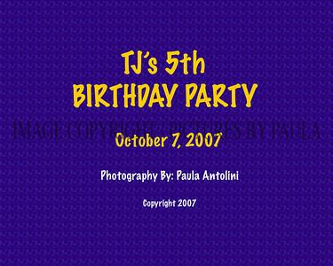 TJ's 5th Birthday, Ridgefield CT,  10-7-07