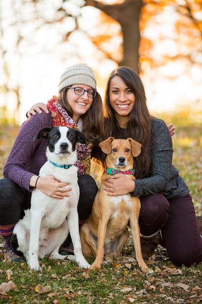 Kelly, Sarita, Damien, and the Pups!