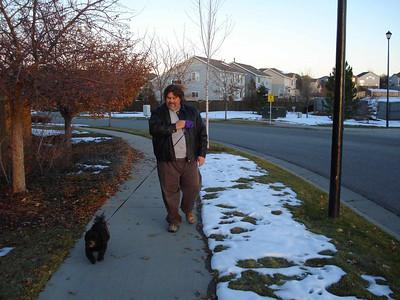Dog Walk with Oreo, Dec 09