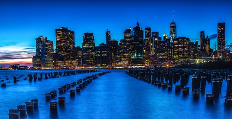 Brooklyn Bridge Park, Blue Hour