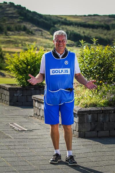 Peter Salmon.  Íslandsmót í golfi 2019 - Grafarholt 2. keppnisdagur Mynd: seth@golf.is