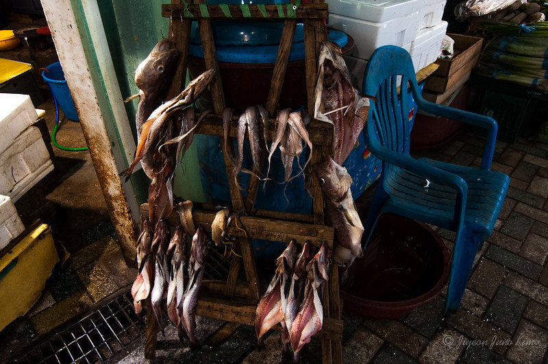 Dried fish at Heaundae Market
