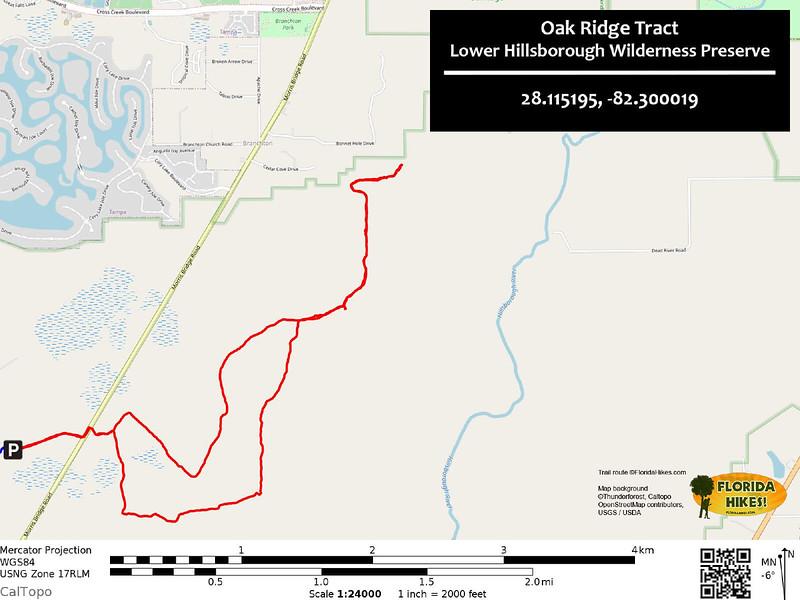 Oak Ridge Tract Trail Map