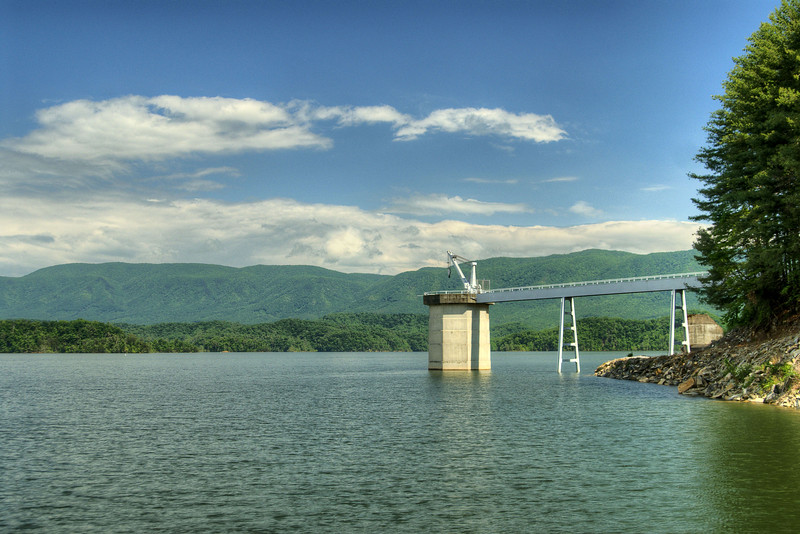 A view from the base of the dam at South Holston Lake near Bristol, TN on Monday, June 3, 2013. Copyright 2013 Jason Barnette