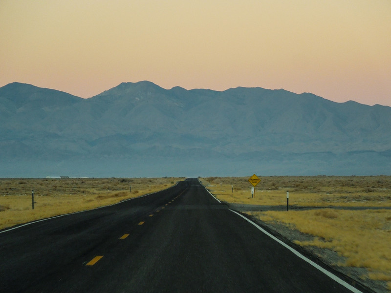 On the drive to Death Valley