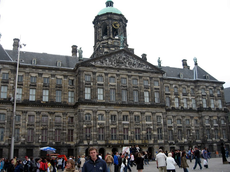 The Koninklijk Paleis (Royal Palace) in Dam Square, Amsterdam's central plaza