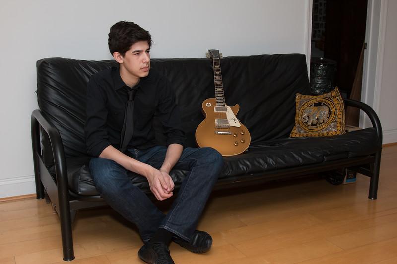 Josh Berenzweig and guitar