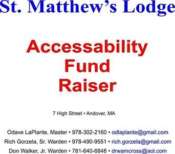 SML Accessibility Fund Raiser