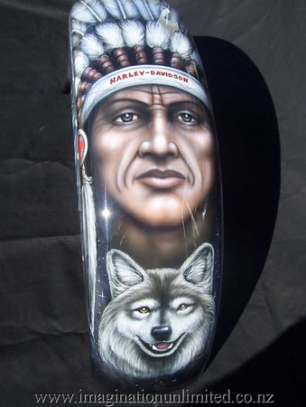 indian and wolf bike