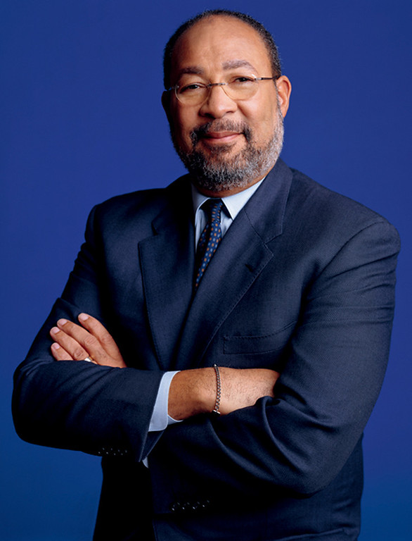 . In this handout photo released by Time Warner, Chairman and CEO Richard Parsons poses for a photographer. (AP Photo/Time Warner, Timothy Greenfield-Sanders)
