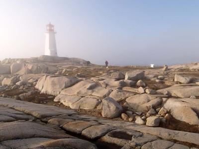 Lighthouse on cloudy days