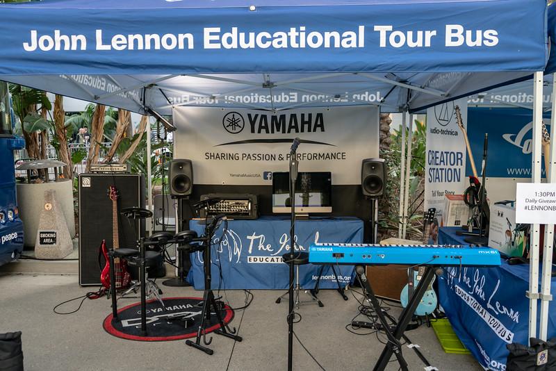 2019_01_24, Anaheim, audio technica, bus exterior, CA, jam tent, NAMM, NAMM 2019, owc, yamaha