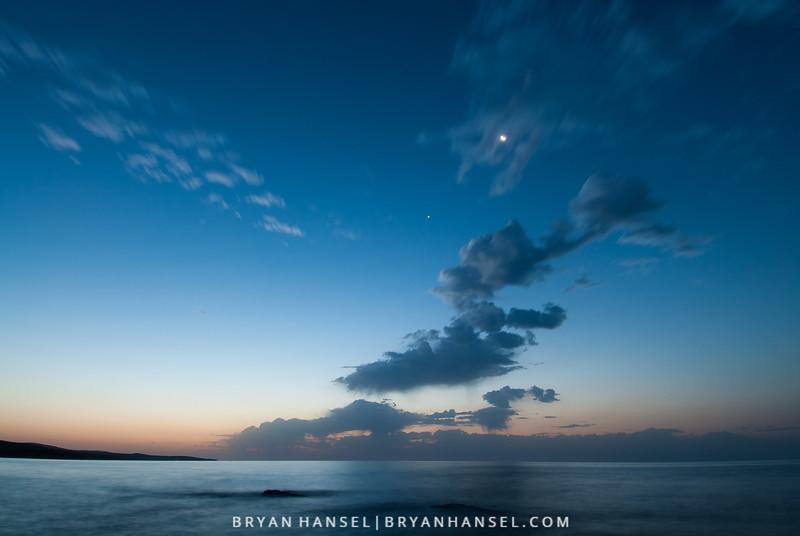 Waning Crescent Moon and Venus at Dawn II