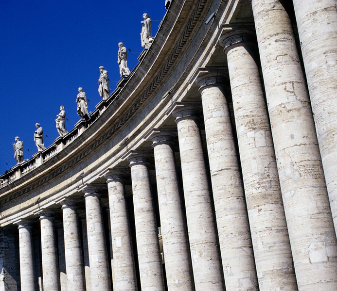 Bernini's Colonnade at Piazza San Pietro (St. Peter's Square) in Vatican, Rome (Italy)