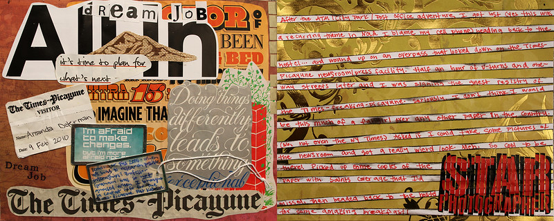 Art journal from a trip to New Orleans in February 2010.