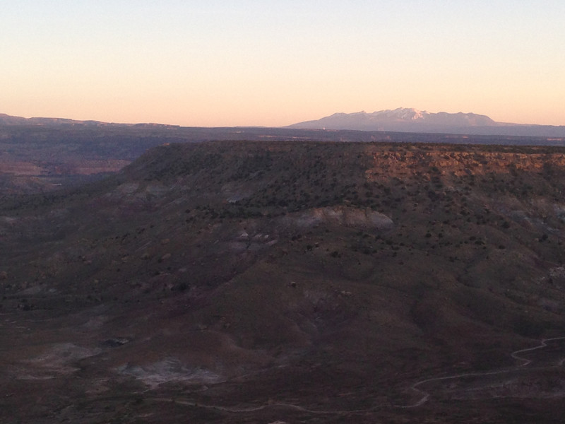 . Sun setting over the Rabbit Valley as viewed from the Bitter Creek Overlook campground in Utah. Handout Photo