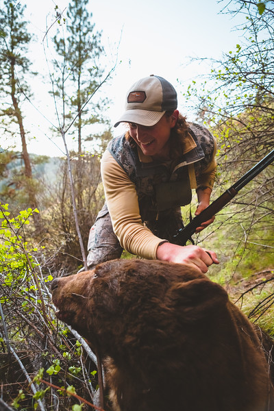 Sam Averett (@samaverett) with his Spring Oregon Bear he shot with his Winchester model 94 chambered in 30-30. April 2016