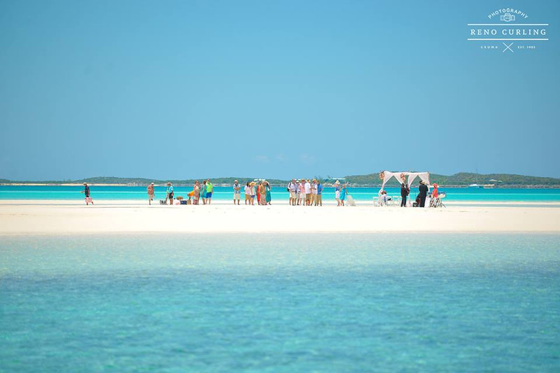 Sandbar Wedding in Exuma Bahamas photo by Reno Curling #renocurling