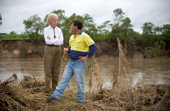 Governor General visits flooded Ingham