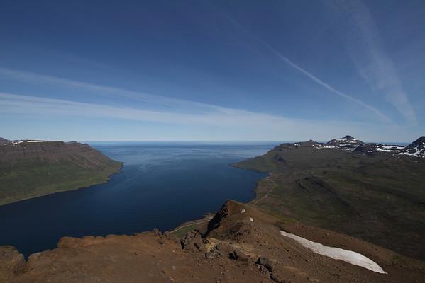 Seyðisfjörður Flanni Bægsli Snjófjall