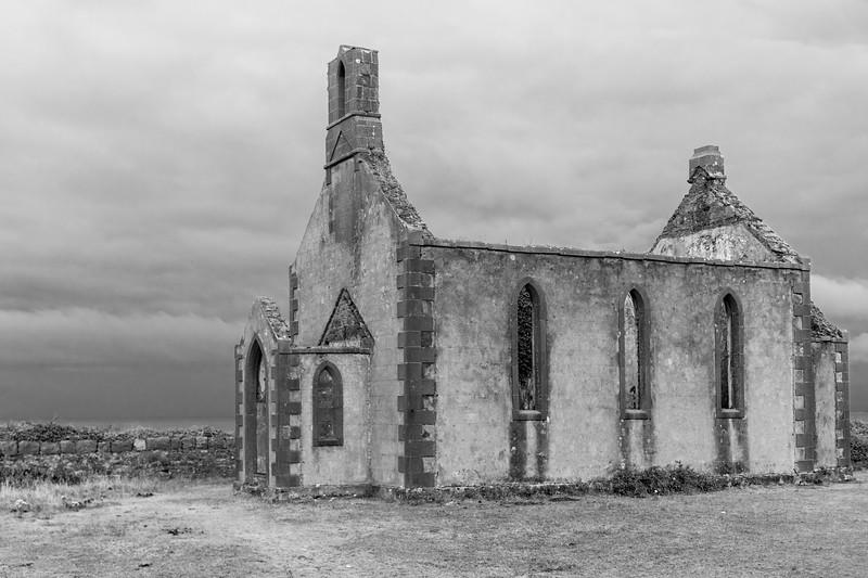 View of abandoned building, Kilronan, Inishmore, Aran Islands, County Galway, Ireland