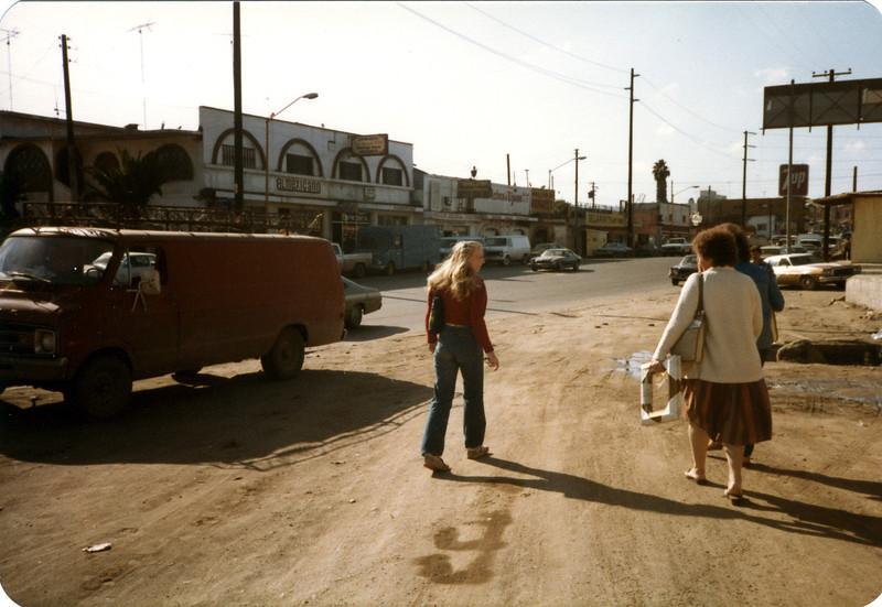 Kerri, Shirley and Barbara- walking the streets of Tijuana