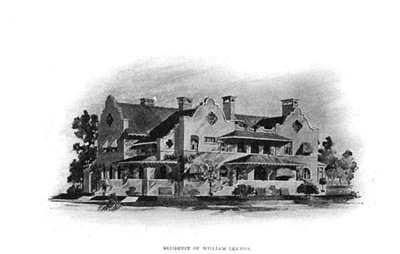 1900 rendering of south face of Lennox House
