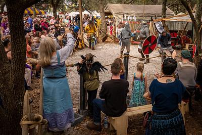 Crowd Enjoys the Wyrdwood Vikings Demonstration