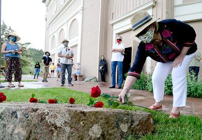 Photos: A Memorial Stone for Los Seis was placed at Chautauqua Auditorium