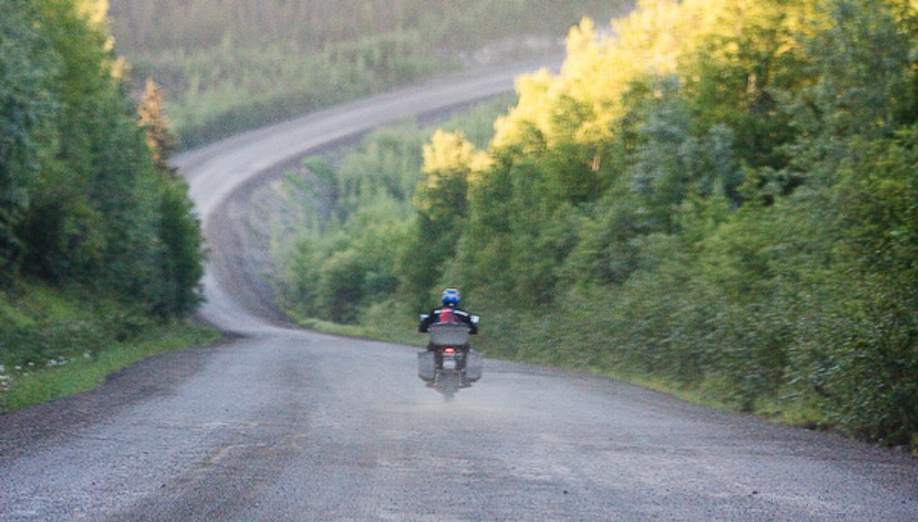 Riding on the Dalton Highway in Alaska, 2008