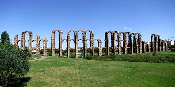 Merida Spain Aqueduct Ruins
