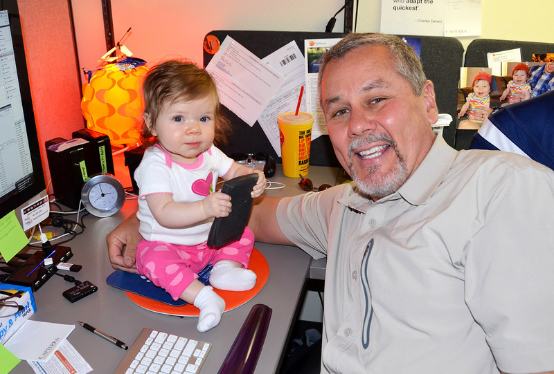 2012-9-17 ––– I was so excited when little Aili bug came to visit me at work today. I was extremely busy, but I dropped everything to take the time to play with her on my desk for as long as she would let me. What a little doll.