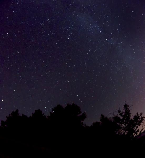 Night sky over Mt Tam