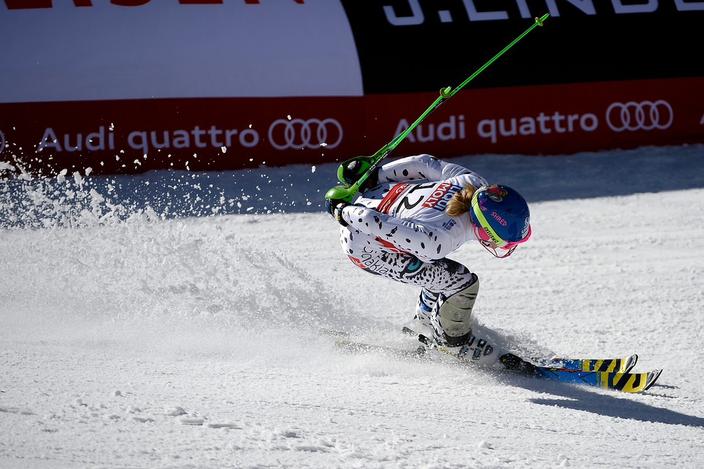 . Veronika Velez-Zuzulová competes during the ladies\' slalom. FIS Alpine World Ski Championships 2015 on Saturday, February 14, 2015. (Photo by AAron Ontiveroz/The Denver Post)